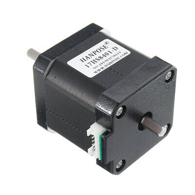 HANPOSE 17HS8401-D Double Shaft 48mm Nema 17 Stepper Motor 42 Motor 42BYGH 1.8A