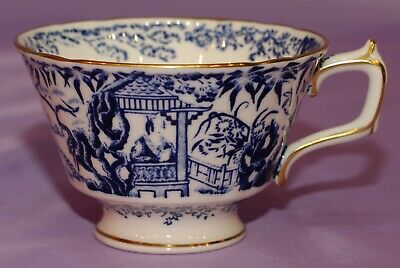 Mint 1976 Royal Crown Derby Blue Mikado English Bone China Teacup Coffee Cup