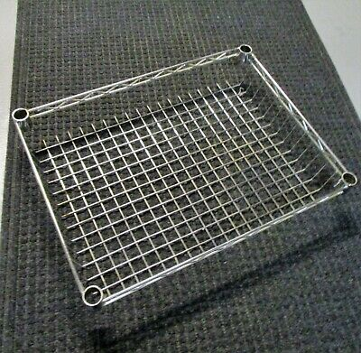 Commercial Chrome Wire Shelving Basket 24 x 18 x 4 - NSF