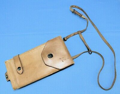Rare US Army / USMC Officers Leather Map Case 1921 Complete