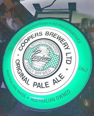 Sign Rare Beer Coopers Brewery Double sided Lights up