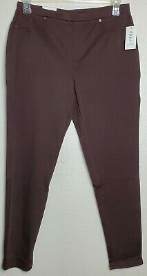 Style & Co Women's Size Large Rich Truffle Brown Mid Rise Comfort Waist Leggings