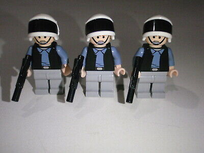 LOT OF 4 Lego Star Wars Minifigure Trooper  Rebel Scout Troopers With Blasters