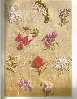 Ribbon Embroidery Patterns Heather Joynes Flower Designs C75
