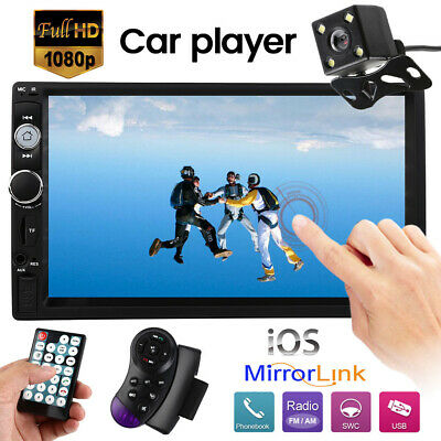 """7"""" Double DIN Car FM Stereo Radio MP5/3  Player Touch Screen Bluetooth+Camera"""