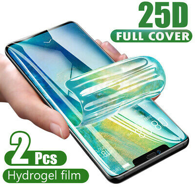 2xPour Huawei P30 Pro P20 Mate 20 Pro Hydrogel Protective Film Screen Protector