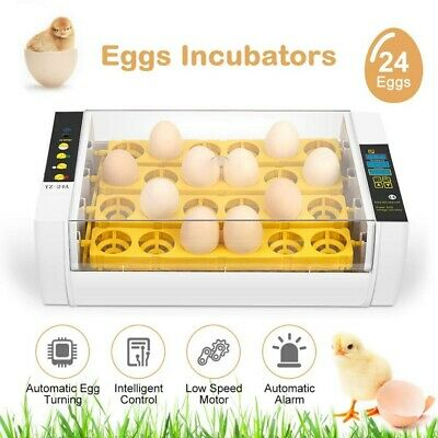 24 Egg Incubator Digital Fully Automatic Mini Egg Hatching Poultry Machine UK