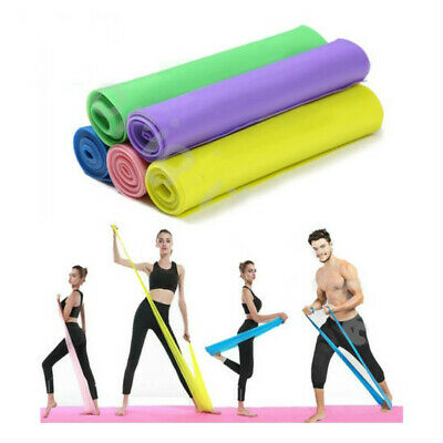 Elastic Resistance Bands Yoga Exercise Gym NHS Pilates Stretch Straps Physio#RY