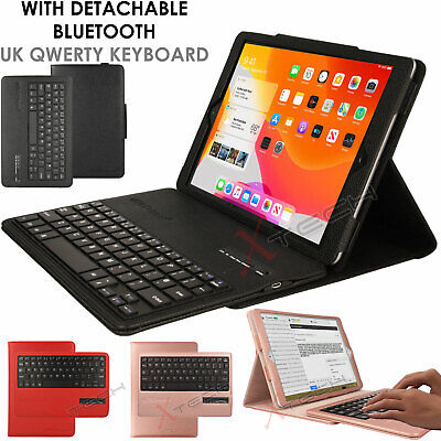 "For Apple iPad 10.2"" 2019 7th Gen. UK QWERTY Keyboard + PU Leather Stand Case"