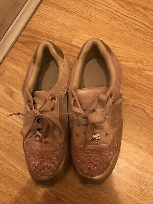 🎀 Ted Baker Girls Rose Gold Trainers Shoes UK Size 13🎀