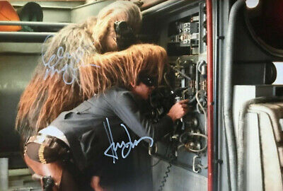 Harrison Ford & Peter Mayhew -Star wars- signed autographed PHOTO 12X8 WITH COA