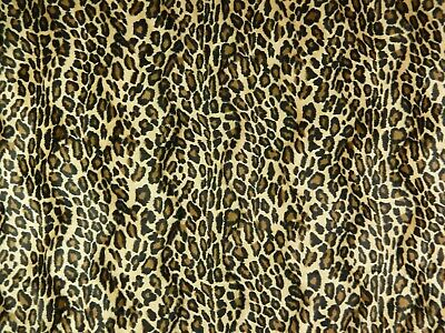 "Leopard Print Velvet & Knit Weave Fabric. Super Soft.   2 Yards+ x 61"".  F-261"
