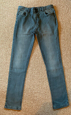 VERY - Boys Skinny Fit Blue Grey Jeans, Age 14 Years