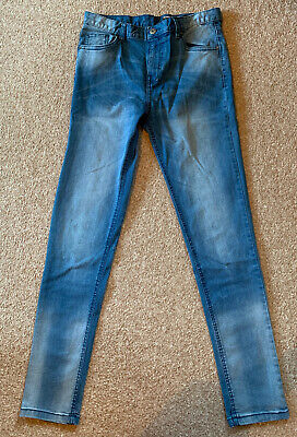 VERY - Boys Skinny Fit Blue Jeans, Age 14 Years