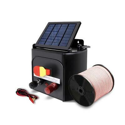 Giantz 3km 0.1J Solar Electric Fence Energiser Energizer Charger with 400M Tape,