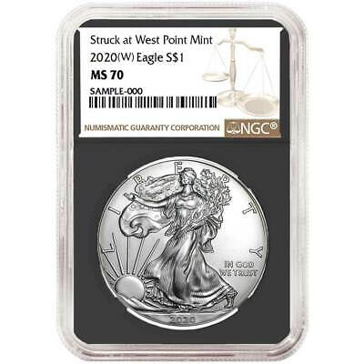 2020 (W) $1 American Silver Eagle NGC MS70 Brown Label Retro Core
