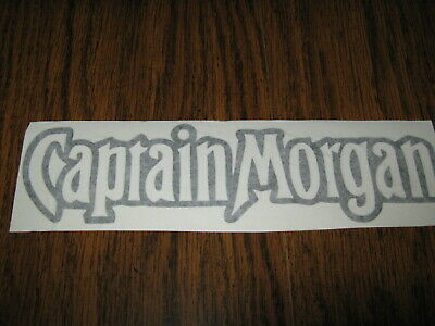 Captain Morgan - Vinyl Sticker - In Black - New