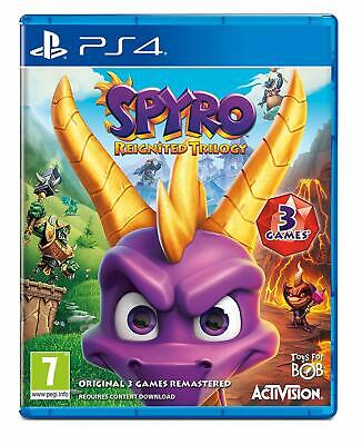 Spyro Reignited Trilogy Sony PLAYSTATION 4 Games all 3 Games Remastered New
