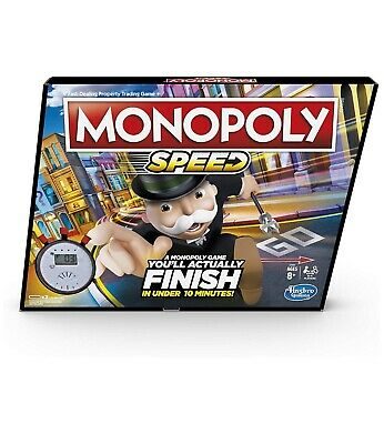 Monopoly Speed Board Game By Hasbro