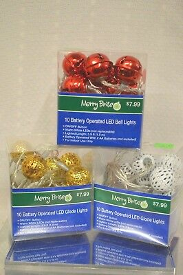 U PICK Merry Brite 15 CT LIGHTS LED Indoor Clear RED Multi COLOR Wreath DECOR
