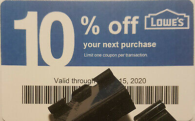 Twenty (20) LOWES Coupons 10% OFF AtCompetitors ONLY notAtLowes Exp July15 2020