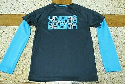 Under Armour Loose Fit Girls Long Sleeve Shirt size YM Youth Medium Athletic