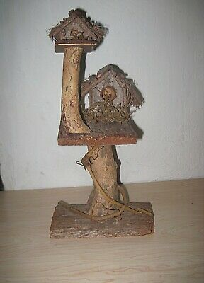 vintage Handmade Magical Fairy stick wood house Decorative Birdhouse Folk Art
