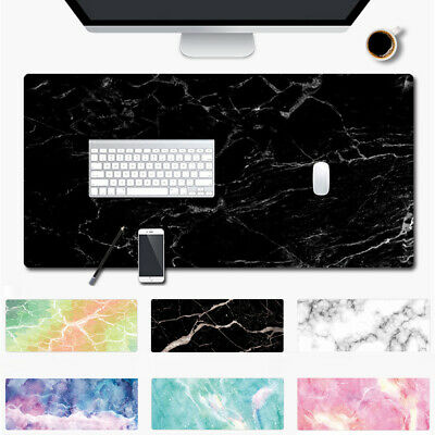 Home Office Rubber Gaming Marble Grain Mouse Pad Keyboard Desk Cushion Mice Mat