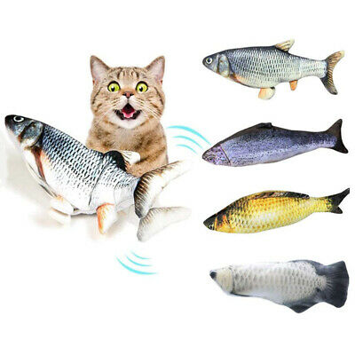 Electric Interactive Cat Wagging Fish Realistic Plush Catnip Fish Mint Toys