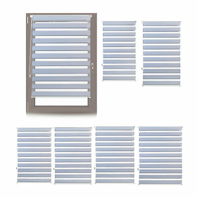 Double Roller Klemmfix Blinds Side Pull Grey No Drilling