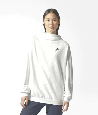 New Adidas Originals Women's Allover Print Trefoil Sweatshirt  ~Size Xs #Bq8003