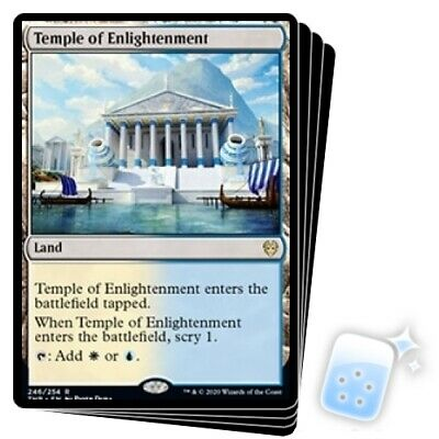 TEMPLE OF ENLIGHTENMENT X4 Theros Beyond Death THB Magic MTG MINT CARD