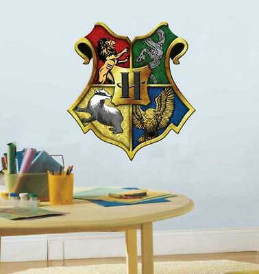 Harry Potter Removable Wall Decal Vinyl Sticker Home Boys Decor Hogwarts Crest
