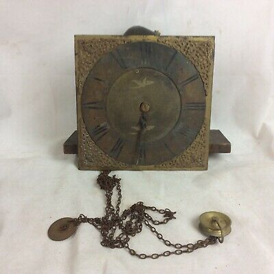 Old English Longcase Grandfather Clock Movement + Face For Spares Or Repair #3