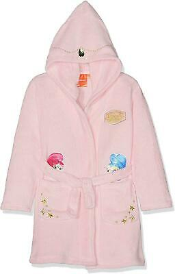 Girls RH2224 Shimmer and Shine Coral Fleece Hooded Dressing Gown Size: 3-6 Years