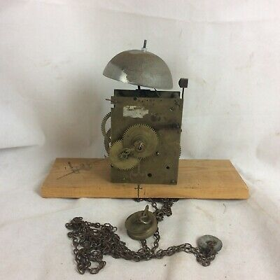 Old English Longcase Grandfather Clock Movement For Spares Or Repair #6