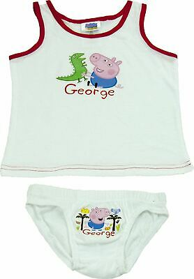 George Peppa Pig boys underwear set vest and briefs white - 7/8 years