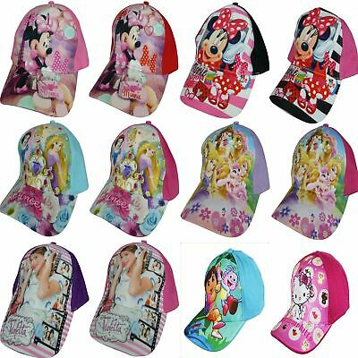 Girls Disney Princess Minnie Violetta Hello Kitty Paw Patrol Dora Baseball Cap