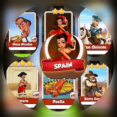 6 Cards from Spain Set ### Coin Master Cards (Fastest Delivery)