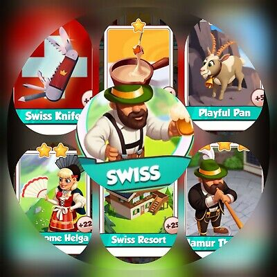 6 Cards from Swiss Set ### Coin Master Cards (Fastest Delivery)