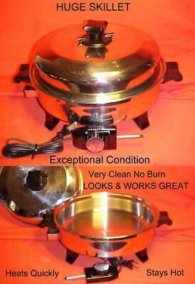 Health Craft Oil Core Waterless Electric Skillet DEEP Frying Pan  EXCELLENT