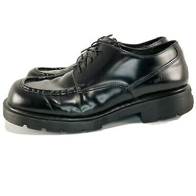 🇬🇧 Dr Martens Mens Black Leather Oxford Shoes England 8747 Chunky DM's SZ 10