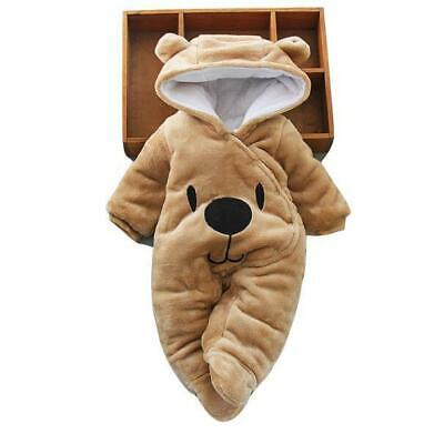 Newborn Baby Fleece Winter Infant Warm Baybysuit One-Pieces
