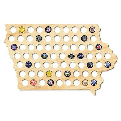 20 In. X 13 In. Large Iowa Beer Cap Map