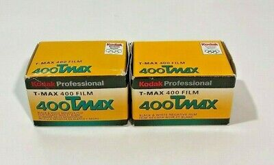 2 Rolls of Kodak TMAX 400 Film Black & White Neg 135-24 & 135-36 - Expired