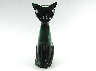 Large Mid Century Modern Blue Mountain Pottery Cat Figurine Made In Canada