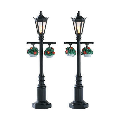 Lemax Old english lamp post set of 2, new 74313  Christmas village lighted