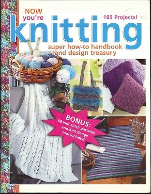Now You're Knitting 2005 Leisure Arts #15944 Beginner How To Baby Afghan Poncho