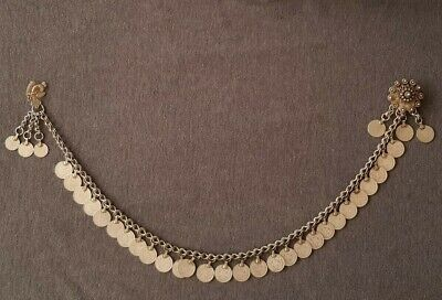 GORGEOUS ANTIQUE OTTOMAN northern Greece men's jewelry silver Chains medallion