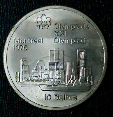 Canada 1973 10 Dollars Olympic Montreal 1976. Silver coin UNC